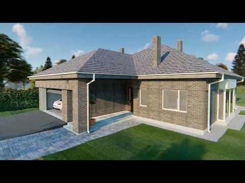 Проект дома «Ла флёр». Строительство загородных домов под ключ Тюмень.