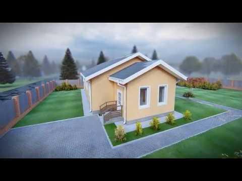 """Проект дома """"Еремей"""". Строительство одноэтажных домов под ключ Тюмень"""