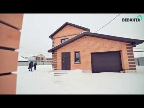 Обзор двухэтажного коттеджа 152 кв.м. с гаражом и хаммамом. СК Веванта город Тюмень
