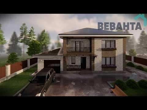 """Проект дома """"Дом Валерии"""". Строительство загородных домов под ключ Тюмень"""