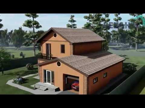 Проект дома «Саша + Лена». Строительство коттеджей под ключ Тюмень.